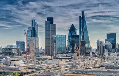 Картина London City. Modern skyline of business district