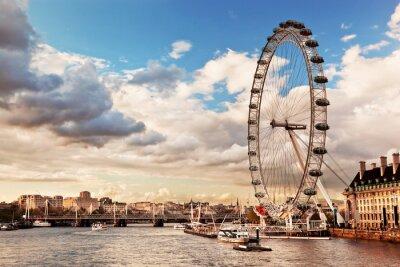 Картина Лондон, Англия Великобритания горизонта. Река Темза