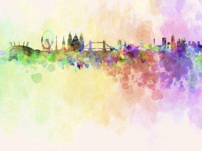 Картина Лондонский горизонт в фоне акварель