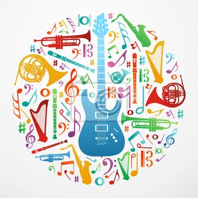 Любовь к музыке концепции иллюстрации фон
