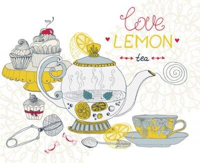 Картина любовь чай с лимоном карты