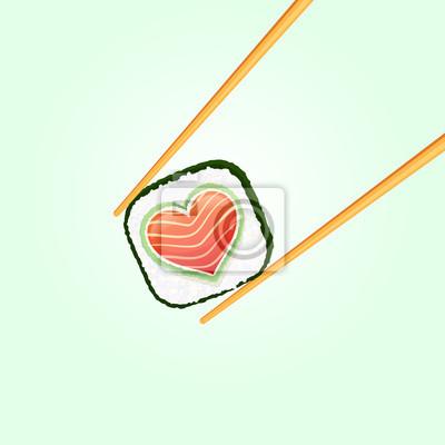 Любите суши ролл в пищевых палочек