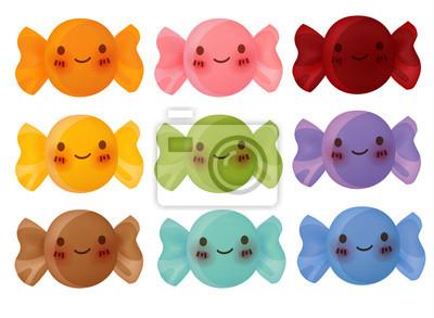 Прекрасный Коллекция Candy - векторный файл EPS10