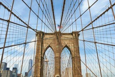 Картина Нижний Манхэттен вид горизонта из Бруклина