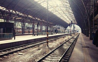 Картина Главный железнодорожный вокзал в Праге, Чешская Республика.