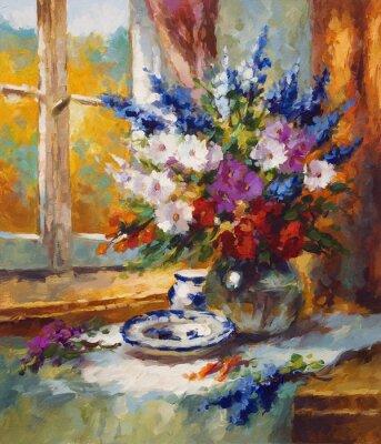 Картина Живопись, цветок, красочный мотив
