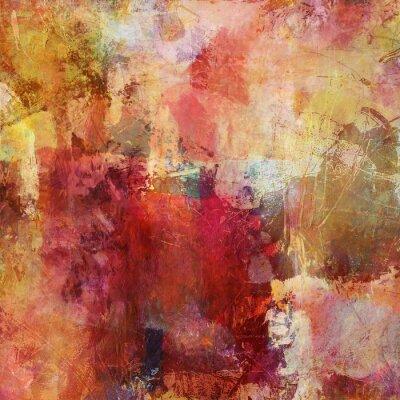 Картина смешанная техника живописи осенние краски
