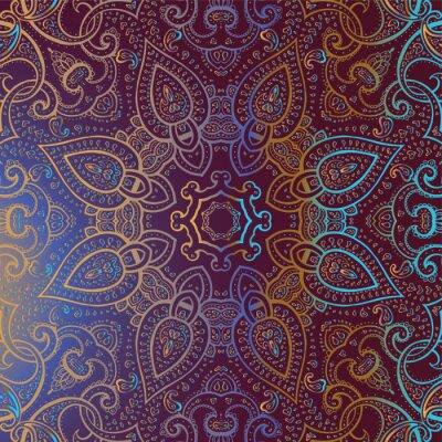 Картина Мандала. Индийский орнамент.