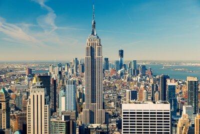 Картина Манхэттен с высоты птичьего полета
