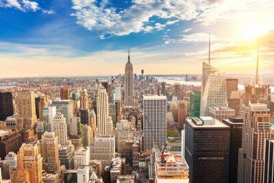 Картина Манхэттен птичьего полета