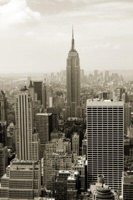 Манхэттен панорама в сепии