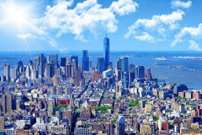 Картина Манхэттена горизонты