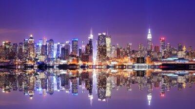 Картина Манхэттена горизонты с Размышления