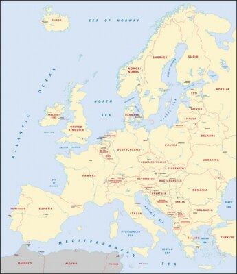 Картина Карта Европы