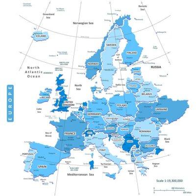 Картина Карта Европы City