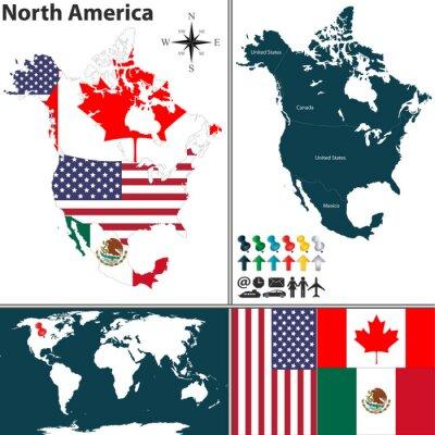 Картина Карта Северной Америки