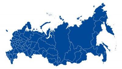Картина Карта Российской Федерации