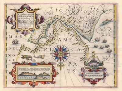 Картина Карта Магелланова пролива