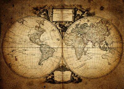 Картина карта мира 1752