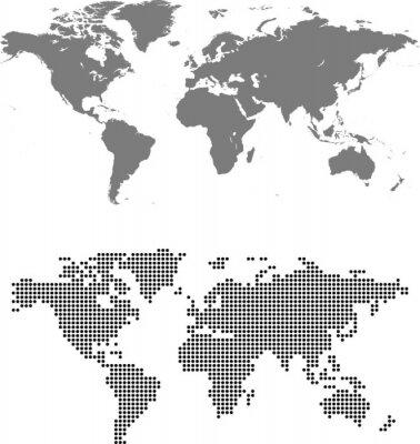 Картина map of world