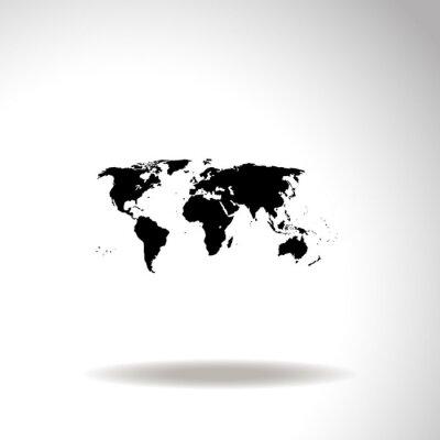 Картина Карта мирового вектора значка.