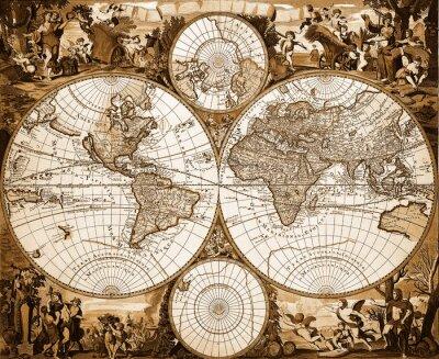 Картина Mappemonde Ancienne