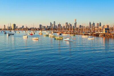 Картина Мельбурн горизонт из Санкт Kilda на закате (Виктория, Австралия)