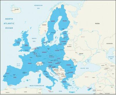 Картина Государства-члены карте Европейского союза