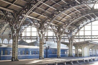 Картина Железнодорожная станция металла