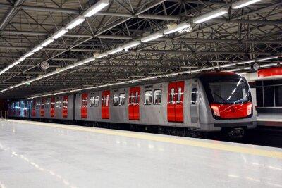 Картина Метро поезд на станции метро