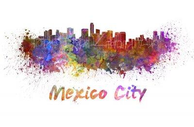 Картина Мехико горизонт в акварели