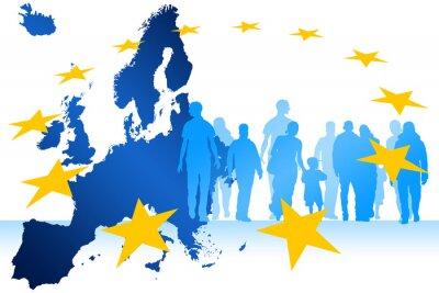 Картина Мигранты Европа
