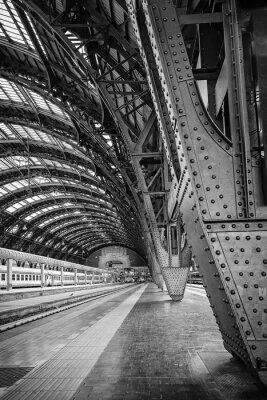 Картина Центральный вокзал Милана - двоичный
