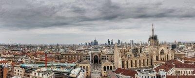 Картина Milano панорамное