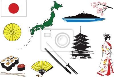 Миниатюры, представляющие символы в Японии