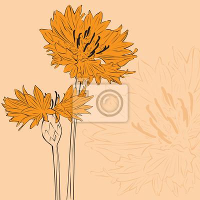 минималистский цветочный фон