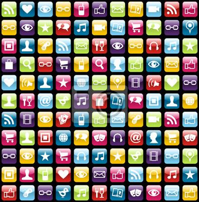 Мобильный телефон приложение иконки узором