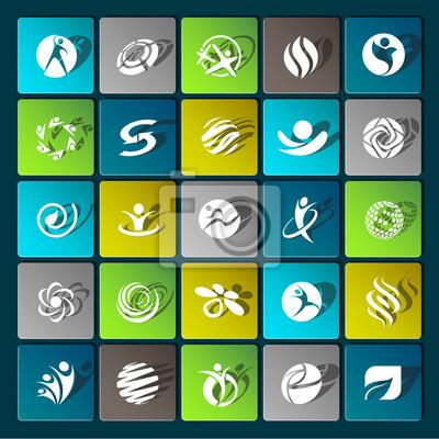 Современные иконки для мобильных устройств и интерфейсов