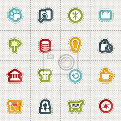 Современные информационные веб-иконки для мобильных устройств и интерфейсов