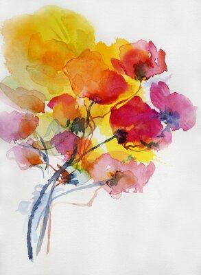 Картина mohnblumen Malerei Aquarell