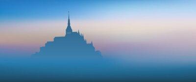 Картина Мон-Сен-Мишель - Panoramique - Aube