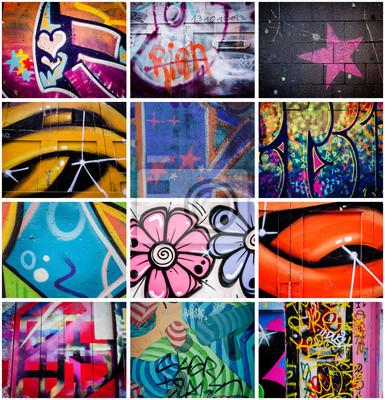 Картина Монтаж де Graffitis
