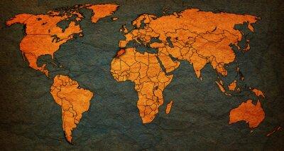 Картина марокко территория на карте мира