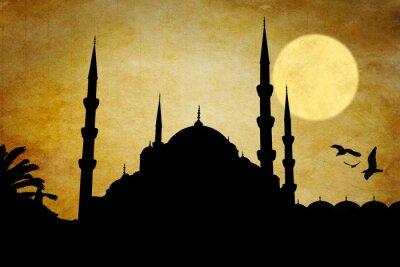 Картина Moschea силуэт