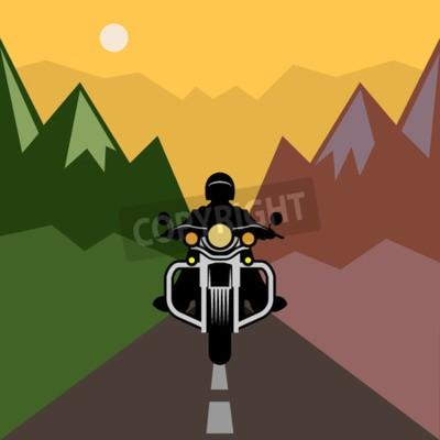 Картина Мотоцикл приключения, векторные иллюстрации