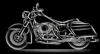 Картина мотоцикл вектор