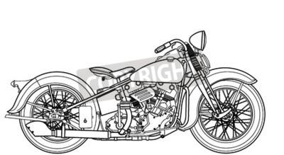 Картина Мотоцикл марочный