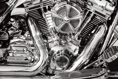 Картина Мотоцикл с хромированными частями