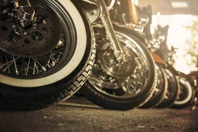 Картина Мотоциклы подряд