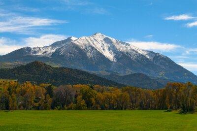 Картина Гора Sopris Elk Горы Колорадо - Золотая осень